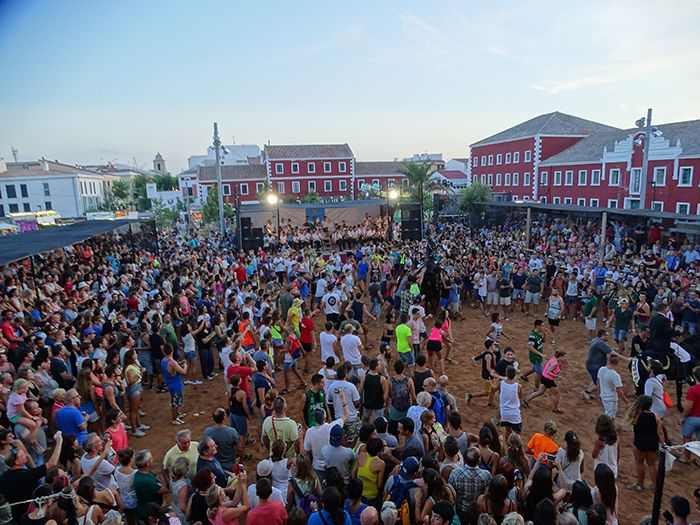 Jaleo Festival in the main square of Es Castell