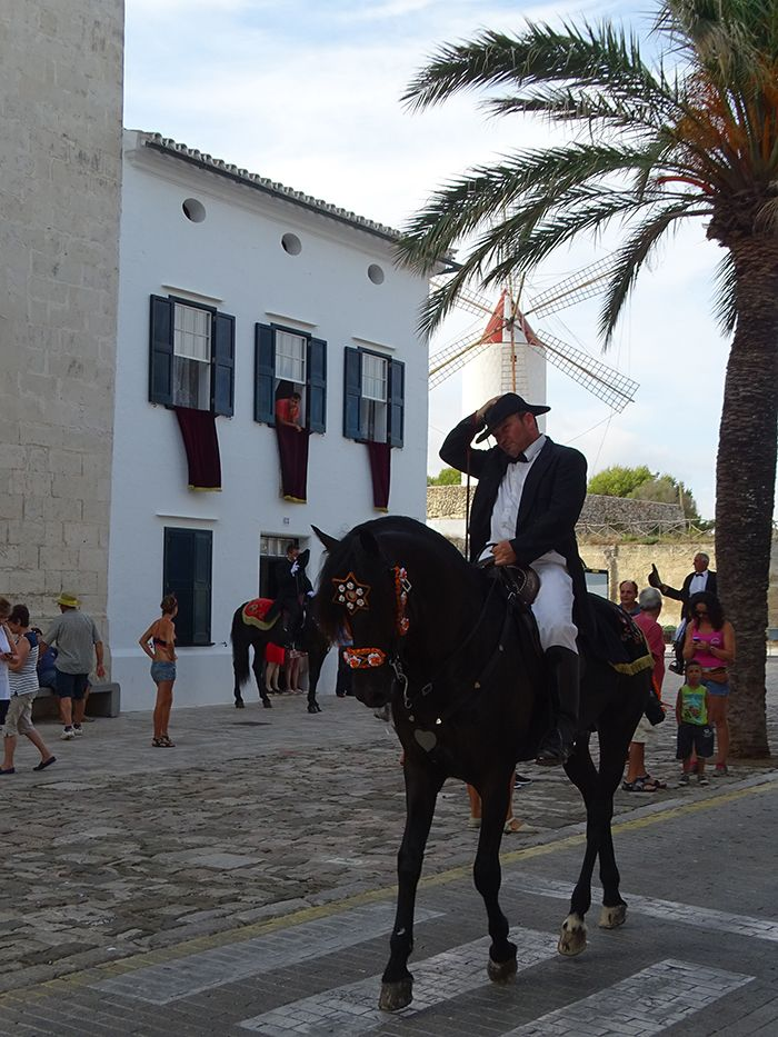 Minorcan horse parading before the jaleo in Es Castell
